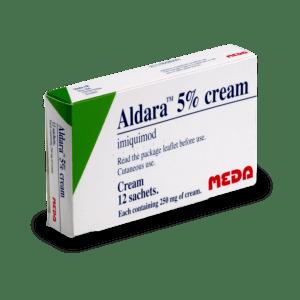 Boite d'Aldara, traitement pour soigner les verrues génitales sans ordonnance préalable
