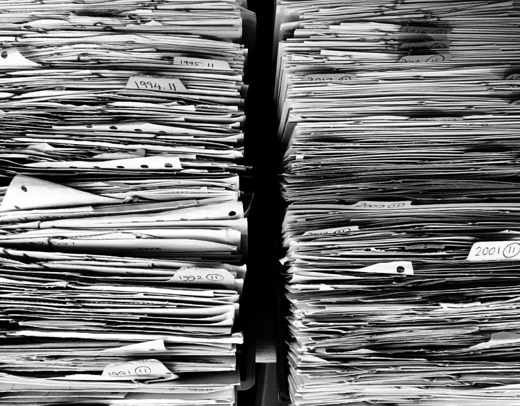 pile de document