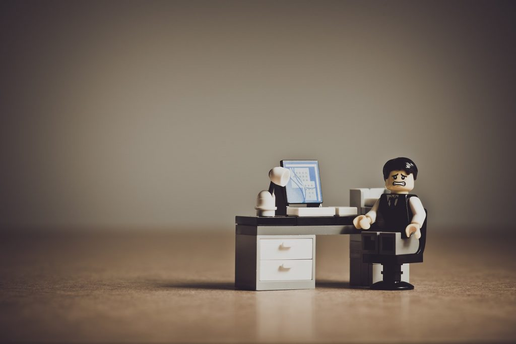 travail stressant au bureau