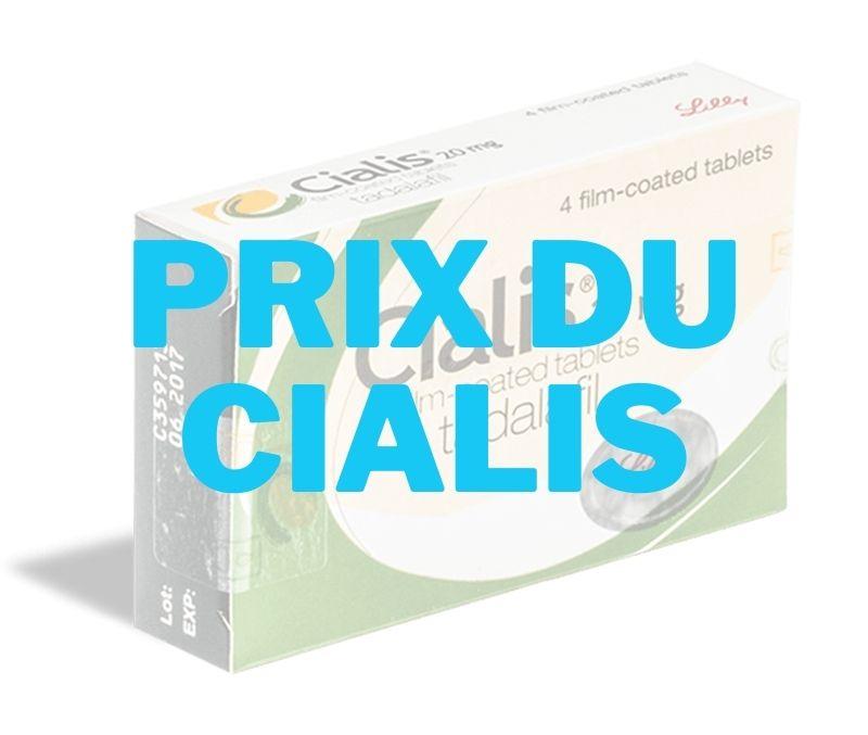 CIALIS _ Prix